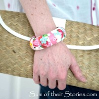 Julie's #Upcycled Floral Bangle