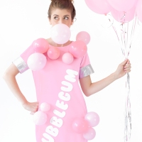 The #upcycled bubble gum #costume