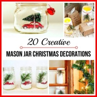 20 #Upcycled Jar #DIYs for #Xmas