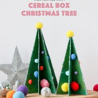Cintia's #Upcycled Cereal Box #Christmas Trees