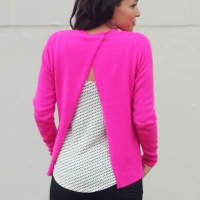 #NoSew Cross Back Sweater #Refashion