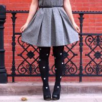 Victoria's #DIY Painted Tights