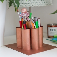 Sonia's #upcycled toilet roll pen holder