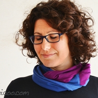 Lisa's #upcycled t-shirt infinity scarves