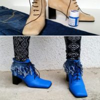 A #Vintage Granny Boot #Refashion