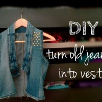 Raquel's amazing jeans to vest #refashion