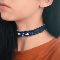 Allison's #diy denim chokers