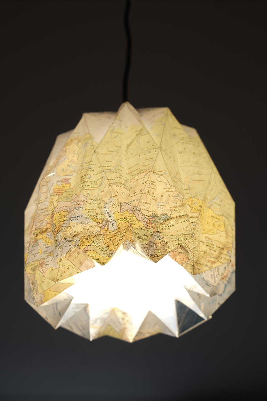 upcycled-map-lampshade