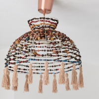Daniela's Boho Beaded Lampshade #DIY