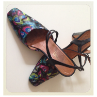 Gabriela's #upcycled #decoupage shoes