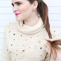 Lindsey's fab #thrifted #embellished sweater
