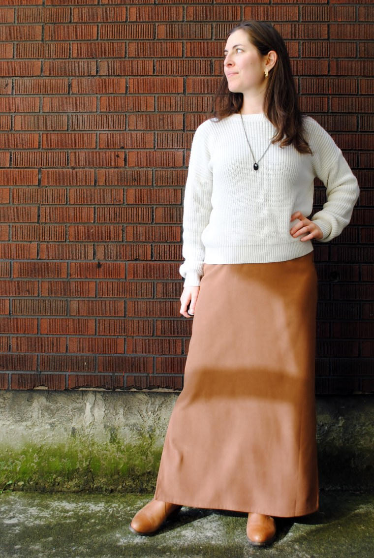 80s skirt and sweater refashion