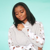 Ayisha's awesome #DIY lace up hoodie #refashion