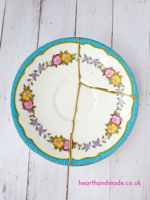 diy plate repair kintsugi