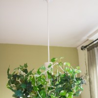#DIY #Upcycled Faux Plant Chandelier