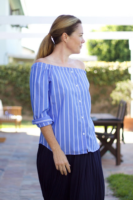 diy off shoulder blouse