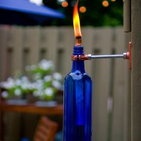#Upcycled Glass Bottle Tiki Torch