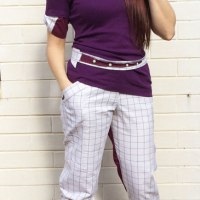 Amazing men's shirt to women's trousers #refashion