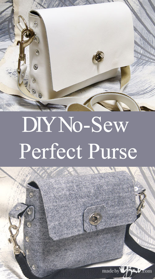 diy no sew purse