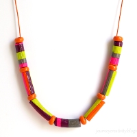 #Upcycled #Scrapbusting Pasta Necklace