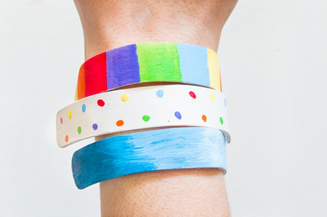 upcycled popsicle stick bracelets