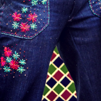 #DIY #Embroidered Denim