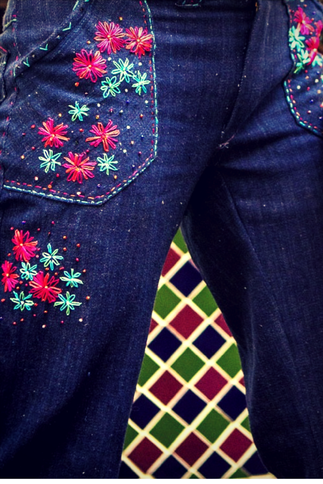 diy embroidered denim tutorial