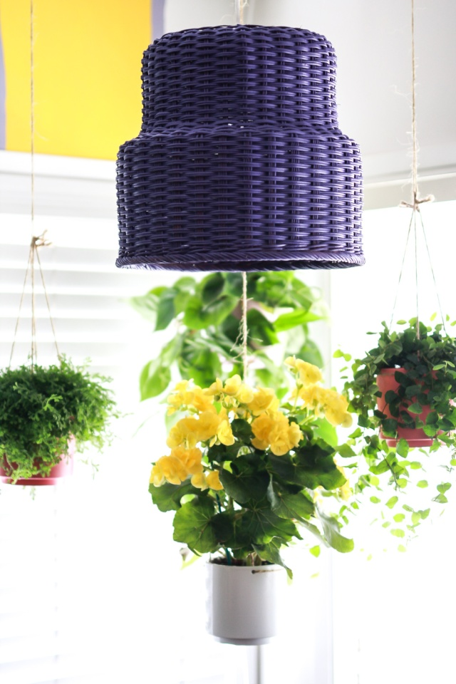 DIY basket lamp