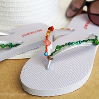 Easy #DIY Beaded FlipFlops