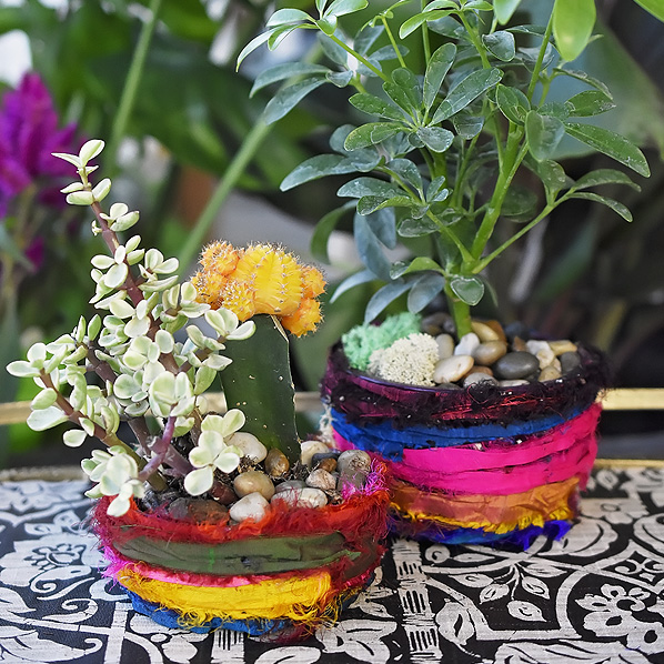 boho planter tutorial diy