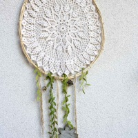 #Upcycled doily dreamcatcher