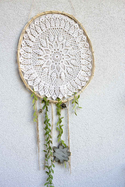 diy doily dreammcatcher