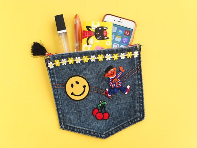 DIY jeans pocket-pouch