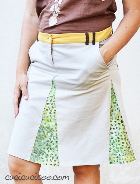 Refashion-shorts-into-a-DIY-skirt-with-godets