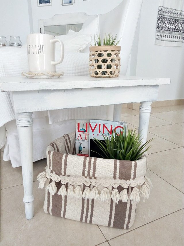 diy rug basket