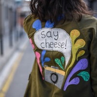 Painted Jacket #Refashion