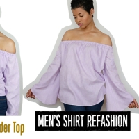 Amazing 3 way button up shirt #refashion