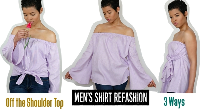 Mens-Shirt-Refashion-Off-the-Shoulder-Top