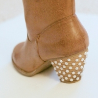 #DIY Pearl Embellished Boots