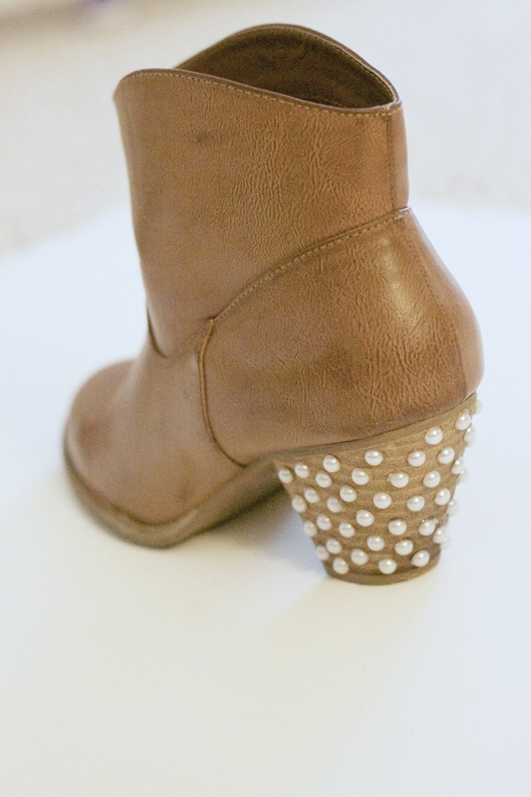 pearl embellished boots