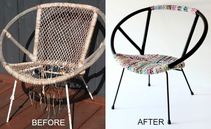 Saucer Chair Before After