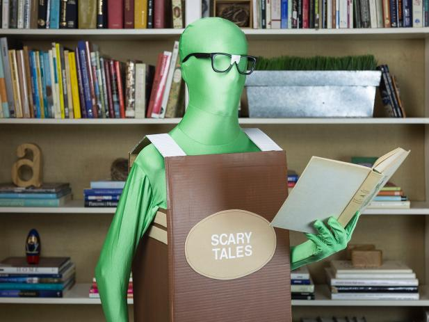 diy bookworm costume