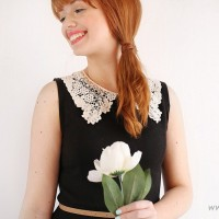 #DIY Lace Collar Dress
