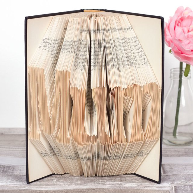 folded statement book DIY gift