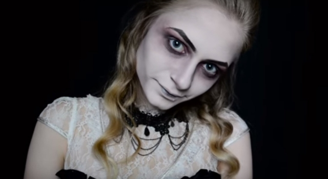 ghost costume make up tutorial