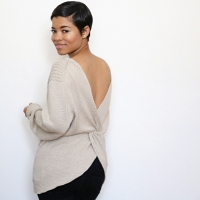 Simple #DIY Twist Back Sweater
