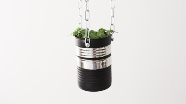 diy upcycled can planter