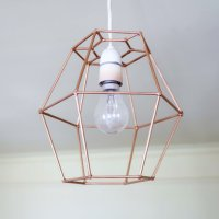 #Upcycled Geometric Lampshade