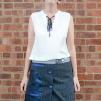 Suit Jacket to Skirt #Refashion