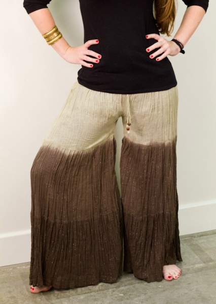 skirt to palazzo pants refashion